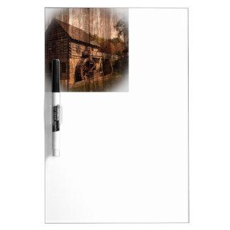 Tableau Effaçable À Sec Roue d'eau en bois de moulin de ferme de grange