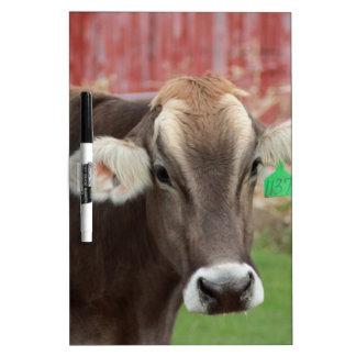 Tableau Effaçable À Sec Vache à Suisse de Brown