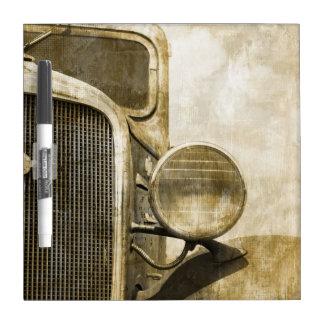 Tableau Effaçable À Sec Vieux camion affligé de ferme de pays rustique