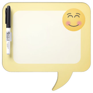 Tableau Effaçable À Sec Visage de sourire avec les yeux de sourire