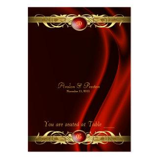 Tableau en soie rouge Placecard de rouleau d'or de Carte De Visite Grand Format