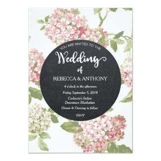 Tableau floral d'ivoire de faire-part de mariage