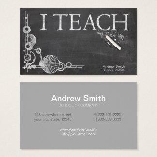 Tableau formel 'je Teach Cartes De Visite
