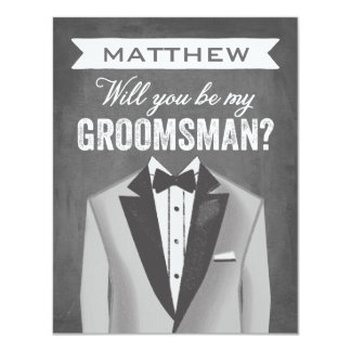 Tableau Groomsman | Groomsman Carton D'invitation 10,79 Cm X 13,97 Cm