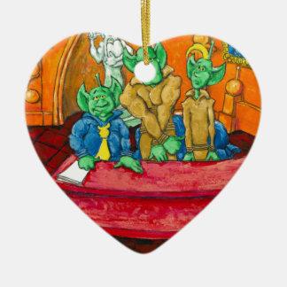 Tableau martien de la défense ornement cœur en céramique