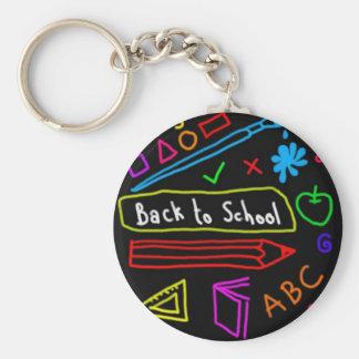 Tableau noir de nouveau à l'école porte-clés