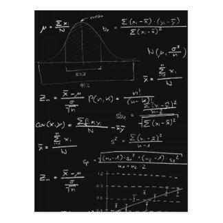 Tableau noir de statistiques carte postale