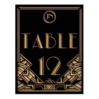 Tableau noir numéro 12 de style de Gatsby d'art dé Carte Postale