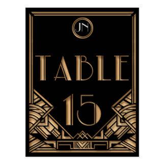 Tableau noir numéro 15 de style de Gatsby d'art dé Cartes Postales