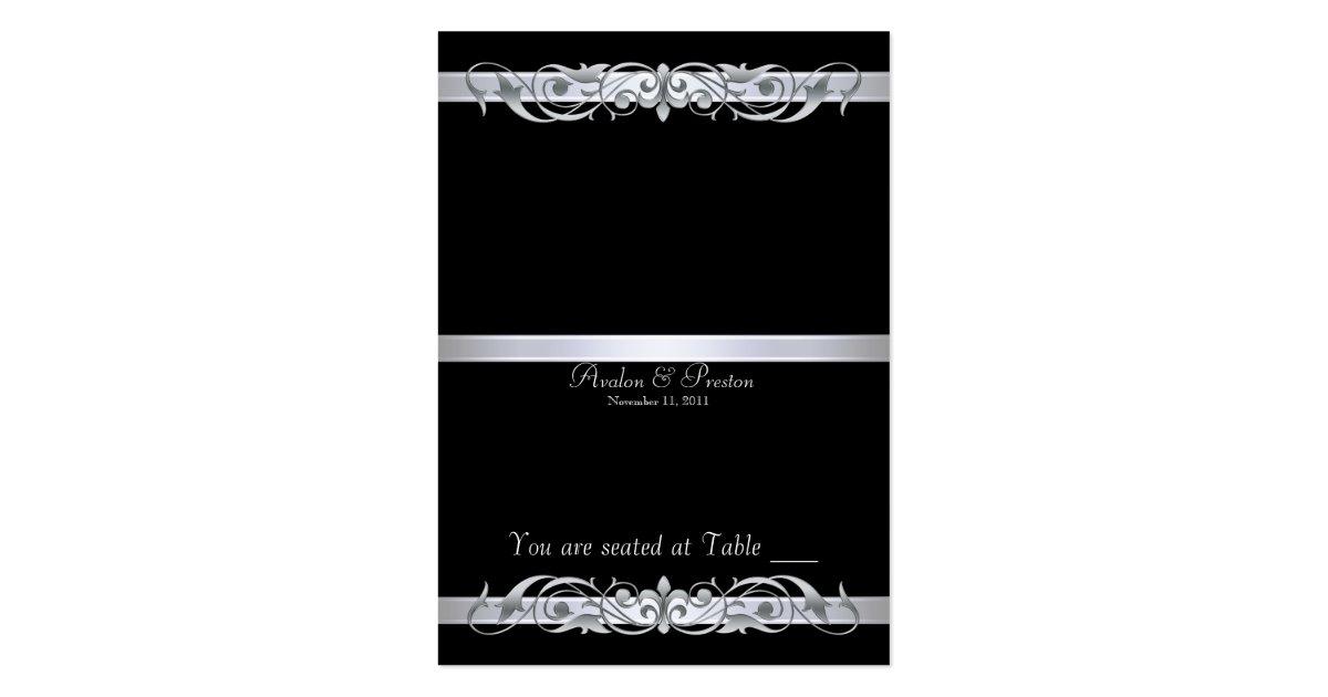 Tableau noir placecard de grande duchesse pliage carte de visite grand format zazzle - Tableau noir craie grand format ...