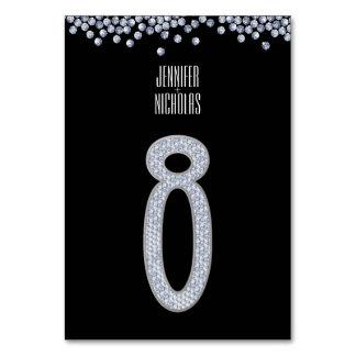 Tableau numéro huit de mariage de scintillement de