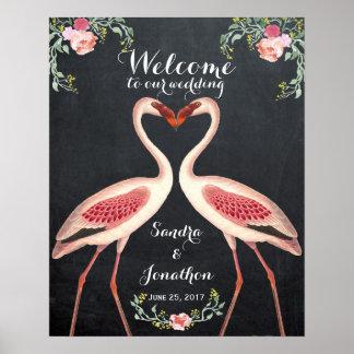 tableau original de signe de mariage d'accueil de