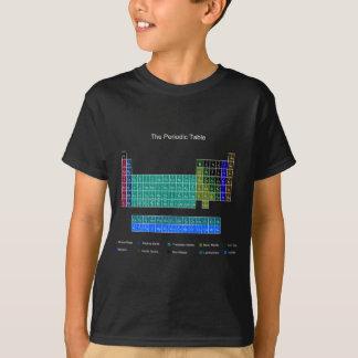 Tableau périodique élégant - bleu et noir t-shirt