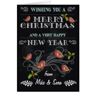 Tableau personnalisé de carte de Noël avec des