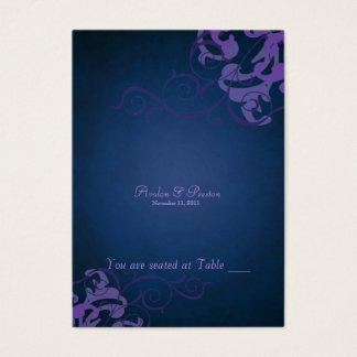 Tableau pourpre et bleu noble Placecard de rouleau Cartes De Visite