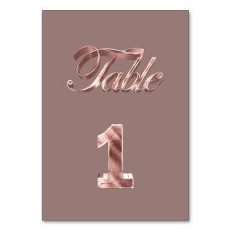 Tableau rose chic élégant numéro 1 d'invités de carte