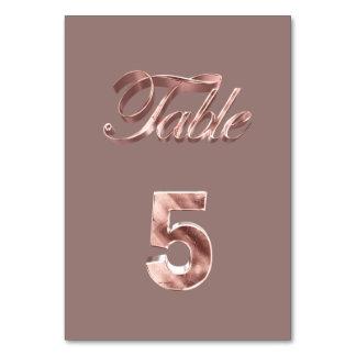 Tableau rose chic élégant numéro 5 d'invités de carte