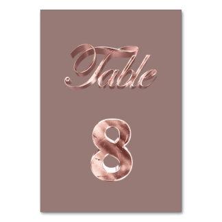Tableau rose chic élégant numéro 8 d'invités de carte