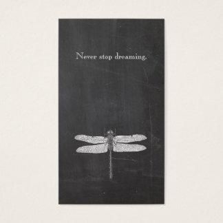 Tableau rustique de nature de libellule fraîche cartes de visite