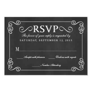 Tableau rustique élégant épousant RSVP Carton D'invitation 8,89 Cm X 12,70 Cm