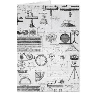 Tableaux des cartes de examen