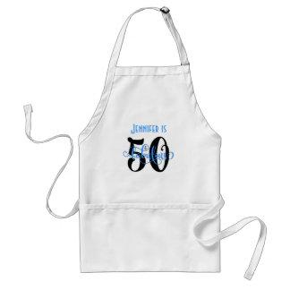Tablier 50 et anniversaire fabuleux noir et du bleu 2 de