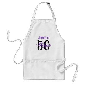 Tablier 50 et anniversaire fabuleux noir et du pourpre 2