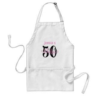 Tablier 50 et noirs fabuleux et dentellent l'anniversaire