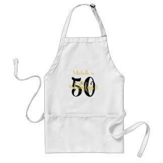 Tablier 50 et noirs fabuleux et jaunissent l'anniversaire