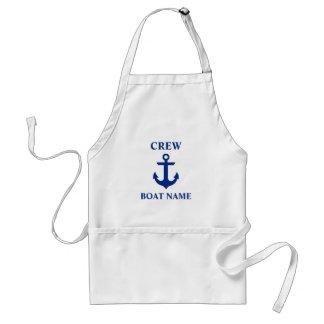 Tablier Ancre nautique d'équipage de nom de bateau