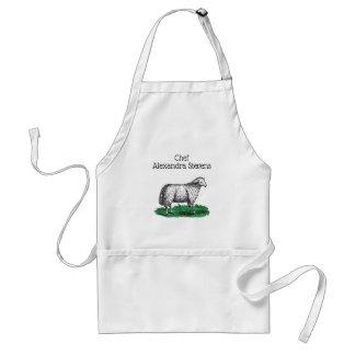 Tablier Animaux de ferme vintages de brebis de moutons