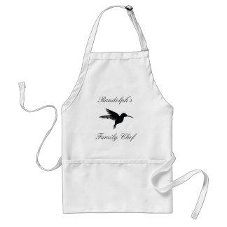 Tablier Apron_Family Chef_Hummingbird_Name_Template