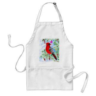 Tablier Art cardinal rouge