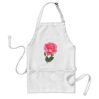 Tablier Art floral d'illustration d'aquarelle de rose de