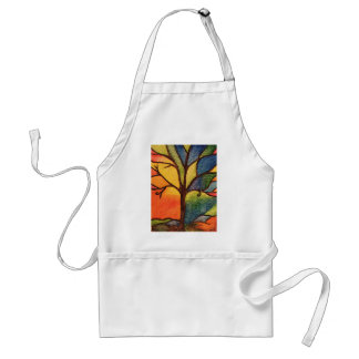 Tablier artistique coloré d'arbre