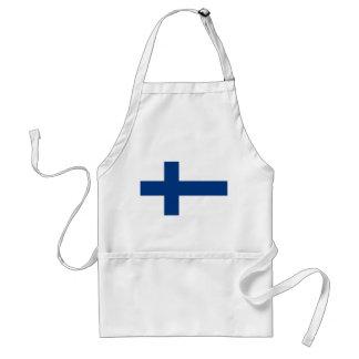 Tablier avec le drapeau de la Finlande