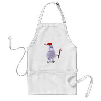 Tablier Bonhomme de neige abominable de Noël drôle