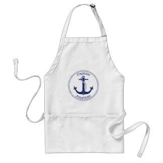 Tablier Capitaine nautique Personalized de bleu marine