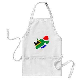 Tablier Carte de drapeau de l'Afrique du Sud normale