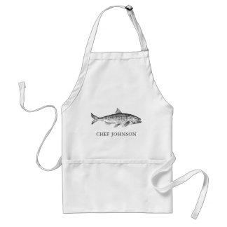Tablier Chef fait sur commande de fruits de mer de nom ou
