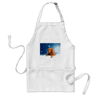 Tablier Chien mignon de golden retriever se reposant en