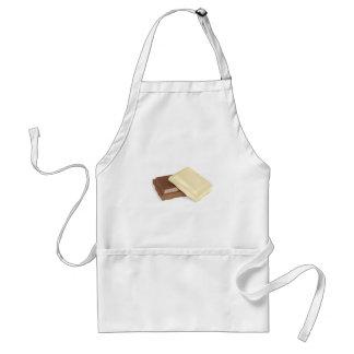 Tablier Chocolat blanc et brun