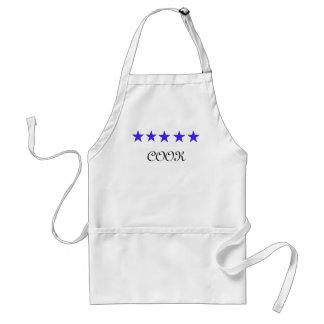 tablier cinq étoiles de cuisinier