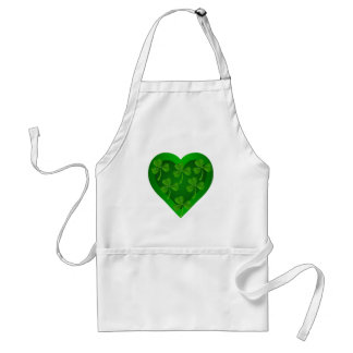 Tablier Coeur vert avec des shamrocks