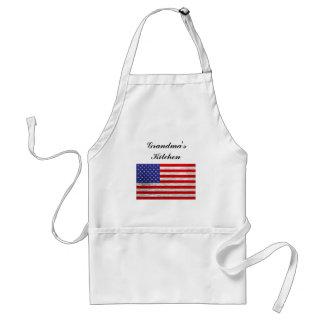 Tablier Conception métallique de drapeau américain