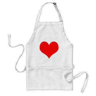 Tablier Conception rouge de jour de Valentines de coeur