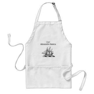 Tablier Crête nautique vintage héraldique de bateau de