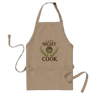 Tablier Cuisinier de fin de nuit Brown mignon et hibou