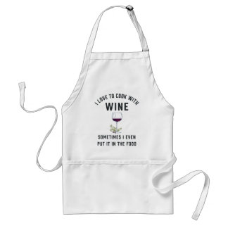 Tablier Cuisson avec du vin