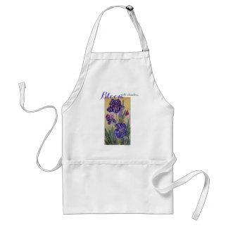 Tablier d'art d'aquarelle d'iris de fleur